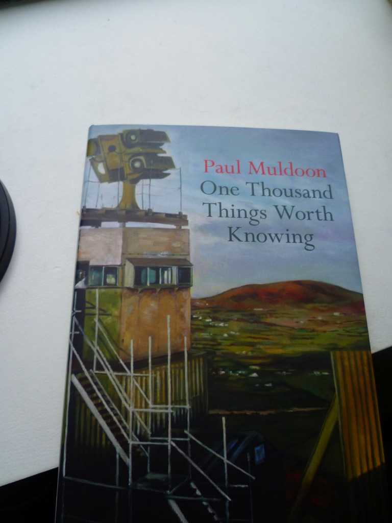 Paul Muldoon, 'One Thousand Things Worth Knowing' cover, pixelated 1