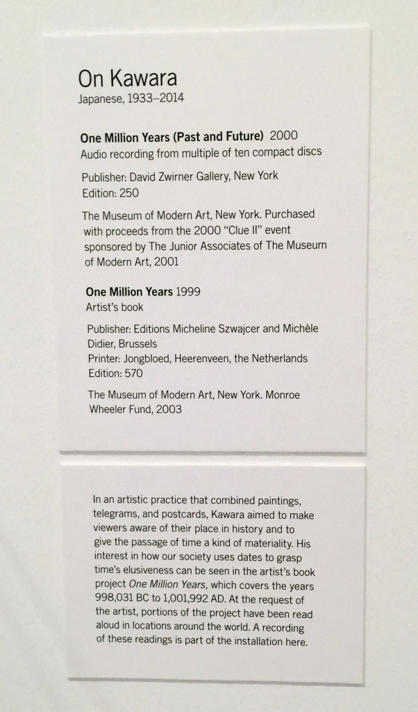 kawara moma text