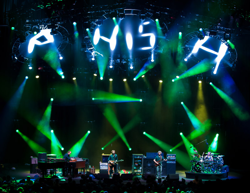 Phish - Comcast Center - Mansfield, MA - 6-22-10 - Photo by Dave Vann © Phish 2010
