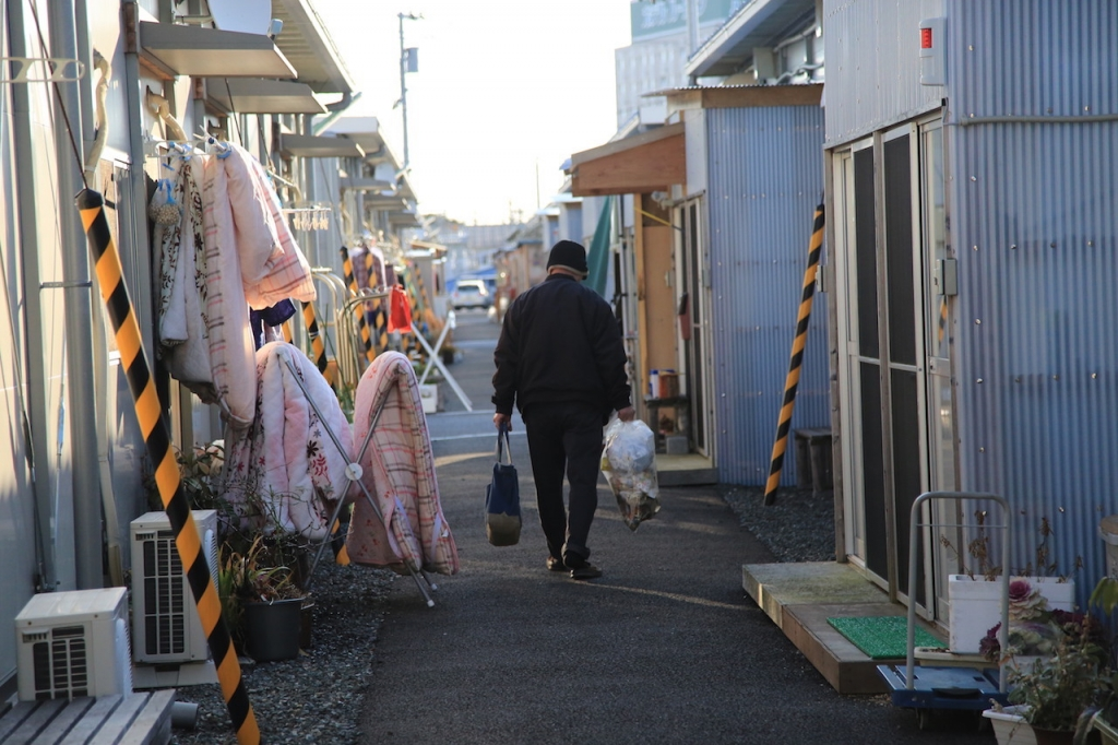 evacuee housing alley fukushima