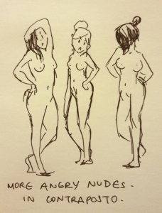 sara chong -- more angry nudes in contraposto